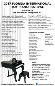 FLORIDA INTERNATIONAL TOY PIANO FESTIVAL