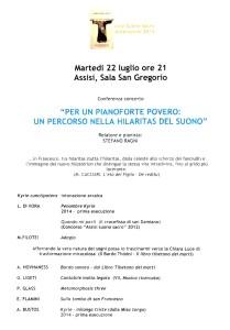 esecuzione Assisi luglio 2014